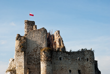 mirow: The old castle ruins in Mirow, Poland