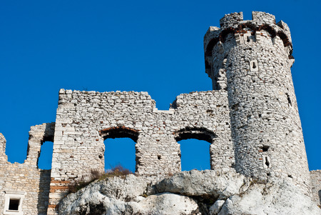 ogrodzieniec: The old castle ruins in Ogrodzieniec, Poland Editorial