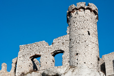 The old castle ruins in Ogrodzieniec, Poland