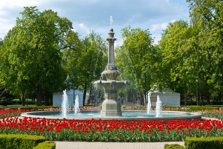 beauty fountain: Beauty fountain in Ersek Kert park in Eger, Hungary