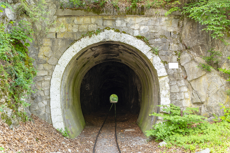 Narrow-gauge railway tunnel in Lillafured, Hungary Banco de Imagens - 104354867