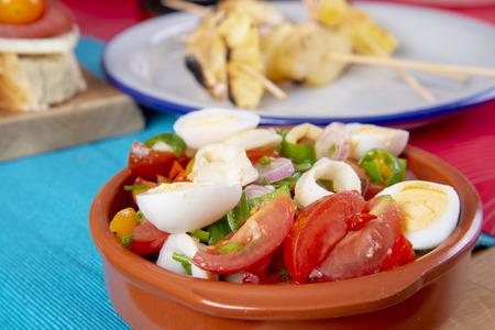Tapas or antipasto food