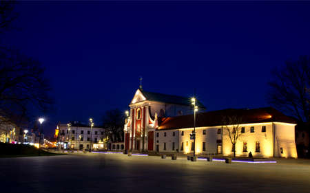 Lublin, Poland. Church of Saints Peter and Paul. Capuchin Order. Lithuanian square