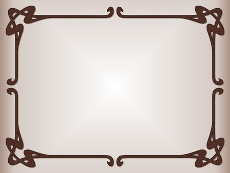 Secession decorative style for table mat Vector