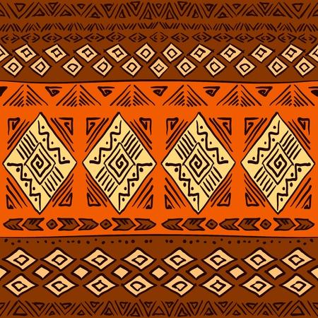 ethic: Hand drawn boho chic seamless pattern with tribal aztec elements. Ethic background for textile, phone cover, wrap, gift cards etc.