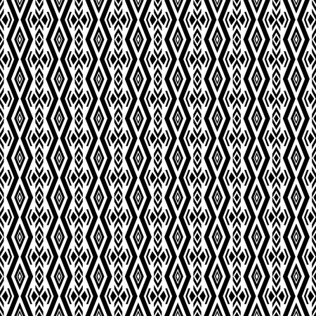 folklore: Vector boho chic style seamless pattern. Folklore background with tribal aztec elements. Black and white.