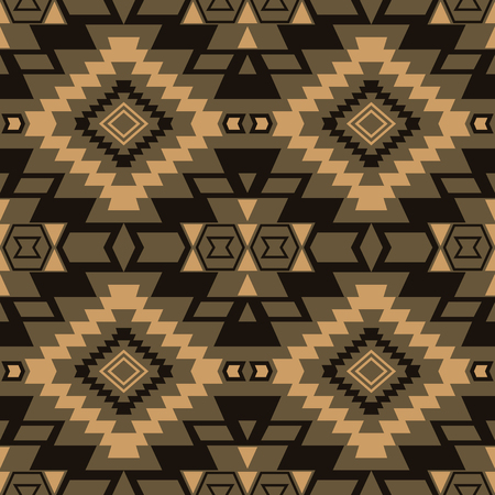 mexican folklore: Seamless boho chic pattern with ethnic aztec motives. Abstract vector wallpaper in mexican folklore style. Illustration
