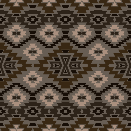 mexican folklore: Seamless boho chic style pattern with tribal aztec motives. Abstract vector wallpaper in mexican folklore style. Illustration