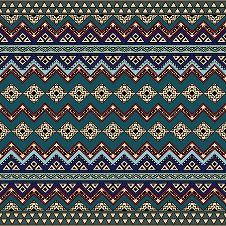 folklore: Boho chic seamless pattern with ethnic aztec motives. Abstract hand drawn wallpaper in modern folklore style.