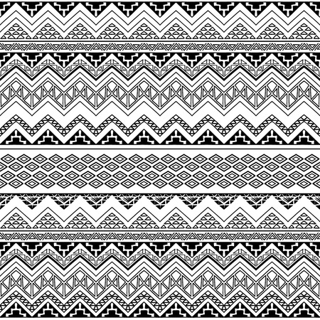 Seamless Boho Chic Style Pattern With Tribal Aztec Ornament Royalty Free Cliparts Vectors And Stock Illustration Image 55722677