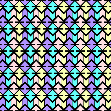 pastel colored: Pastel colored seamless pattern in boho style. Abstract vector wallpaper. Black background.