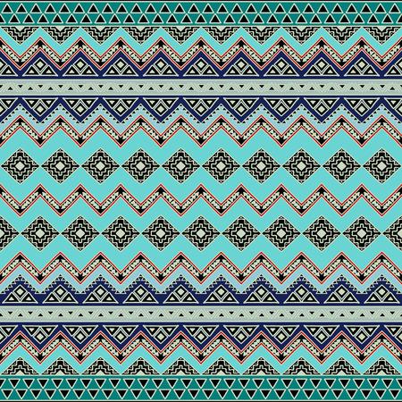 アステカの部族の動機の抽象的なシームレス パターン。手には、自由奔放に生きるシックなスタイルの壁紙が描画されます。