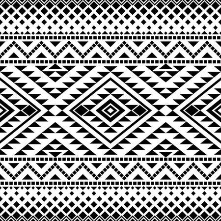 impresion: Patrón sin fisuras con motivos tribales azteca. impresión azteca. diseño azteca. Resumen de fondo con el ornamento azteca étnica.
