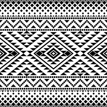 Seamless pattern with tribal aztec motives. Aztec print. Aztec design. Abstract background with ethnic aztec ornament. Çizim