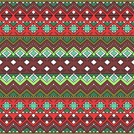 mexican folklore: Hand drawn aztec seamless pattern. Abstract wallpaper with ethnic aztec ornament. Tribal aztec style print template for textile, paper, post cards, bags, phone covers, etc.