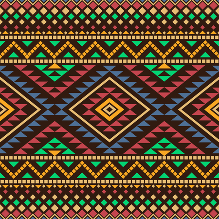 Aztec seamless pattern. Abstract background with tribal aztec ornament. Aztec design. Ethnic aztec print. Aztec style wallpaper.