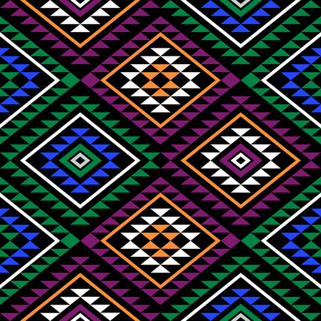 post cards: Seamless boho style pattern with aztec ornament. Abstract background template for textile, wrapping, post cards etc.