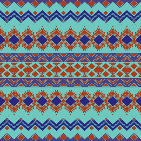 aztec: Hand drawn aztec background. Aztec seamless pattern. Abstract wallpaper with ethnic aztec ornament. Aztec style print. Aztec design.