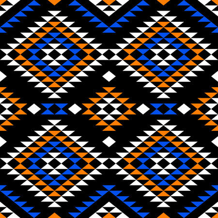 Abstract seamless pattern in boho chic style. Aztec print template for textile, wrapping, gift cards, phone covers etc.