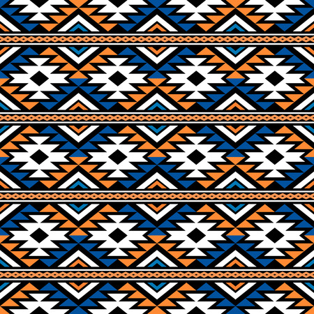 Seamless geometrical pattern in boho chic style. Abstract wallpaper with ethnic aztec ornament.