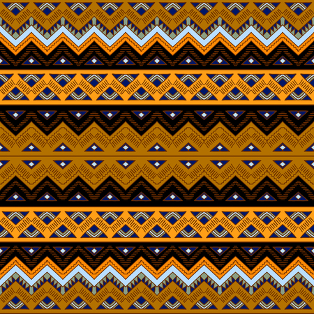 mexican folklore: Seamless patern with aztec ornament. Tribal aztec print template. Aztec style abstract background. Hand drawn hipster wallpaper with aztec motives.