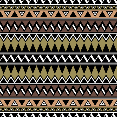 folklore: Aztec stylized seamless pattern. Folklore wallpaper. Boho design. Vector abstract background with ethnic motives. Summer fashion.