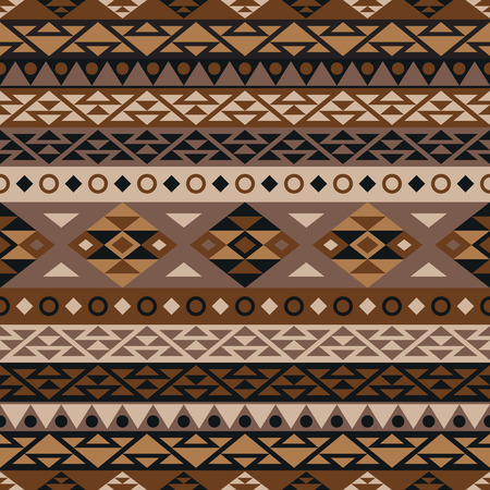 boh: Boh style abstract background. Seamless pattern with aztec ornament. Vector background with folklore motives. Aztec pattern. Summer fashion.
