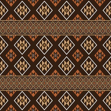 folklore: Aztec seamless pattern. Folklore stylized abstract vector background. Boho design. Illustration