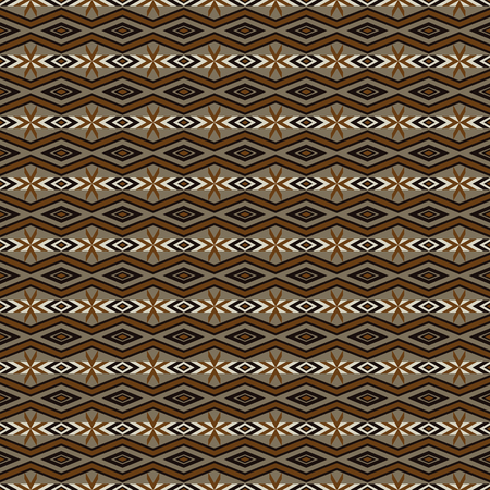 folklore: Aztec stylized vector background. Abstract seamless pattern with folklore motives. Boho chic design.