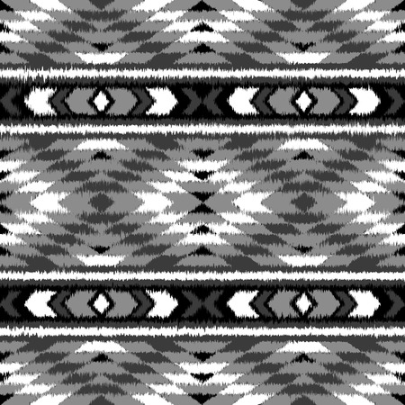 mexican folklore: Aztec seamless pattern. Folklore stylized abstract vector background. Carpet imitation. Grunge effect. Boho design.
