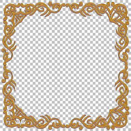 Vektor-Grenze goldenen Rahmen mit Edelsteinen. Oriental Design. Jahrgang und elegant. Kann für eine Spiel-Interface, Einladungen, Geschenkkarten, etc. verwendet werden