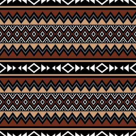 Vector abstract background with folklore motives. Tribal aztec seamless pattern. Boho design. Summer fashion print template. Vektoros illusztráció