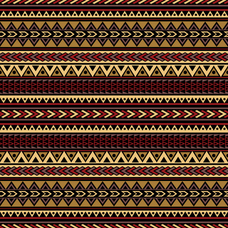 folklore: Boho chic seamless pattern with tribal aztec motives. Folklore stylized abstract background template for textile, phone cover, wrapping, gift cards, invitations, etc. Illustration