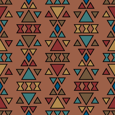 folklore: Boh style abstract background. Seamless pattern with aztec ornament. Vector background with folklore motives. Aztec pattern. Summer fashion.