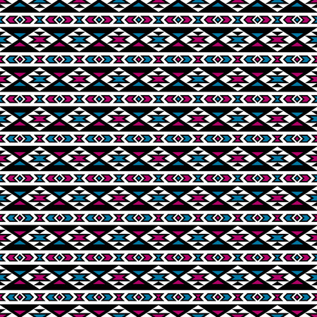 post cards: Boho seamless pattern with geometrical ornament. Aztec stylized print template for textile, paper, wrapping, t-shirts, post cards, etc. Illustration