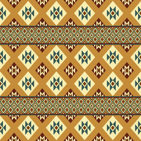 folklore: Ethnic aztec style print template for fabric, paper, wrapping, post cards, etc. Abstract wallpaper with folklore ornament. Boho design.