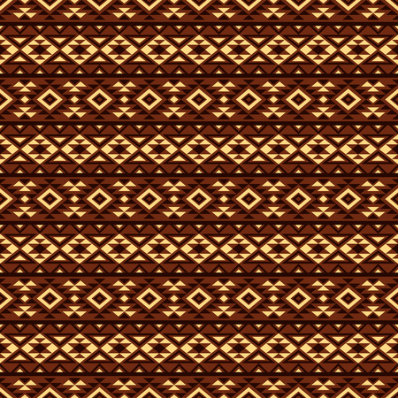 mexican folklore: Boho seamless pattern with geometrical ornament. Aztec stylized print template for textile, paper, wrapping, t-shirts, post cards, etc. Illustration