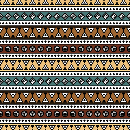 Ethnic style seamless pattern. Boho design. Tribal aztec print template for fabric, paper, wrapping, bags, post cards, phone covers, etc.