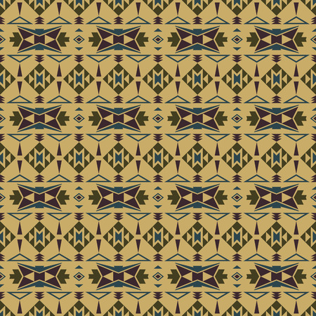 paper bags: Absract seamless pattern in boho style. Aztec print template for fabric, paper, bags, wrapping, post cards, etc. Illustration