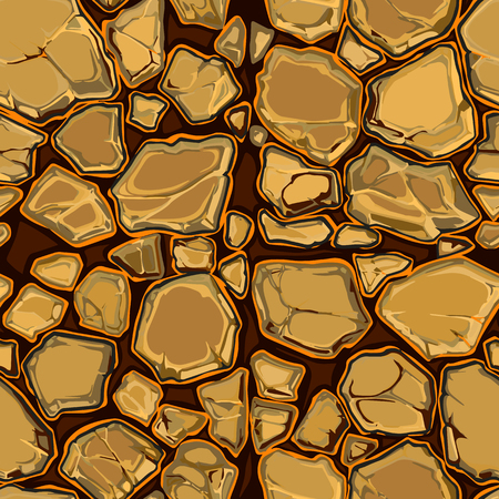 asphalt paving: Hand drawn seamless pattern with stones. Abstract vector illustration. Natural material texture. Stone wallpaper.