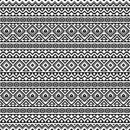 post cards: Abstract seamless pattern in boho chic style. Vector wallpaper with ethnic aztec ornament. Aztec pattern. Folk print template for fabric, paper, post cards, wrapping, t-shirts, etc. Illustration