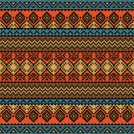 Bright Colored Seamless Pattern With Ethnic Aztec Ornament Boho Gorgeous Aztec Pattern