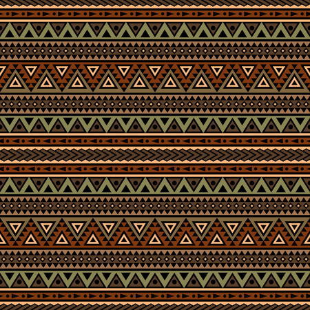Tribal aztec print template for fabric and paper. Seamless pattern in boho chic style. Abstract background with ethnic ornament. Aztec pattern. Summer fashion.