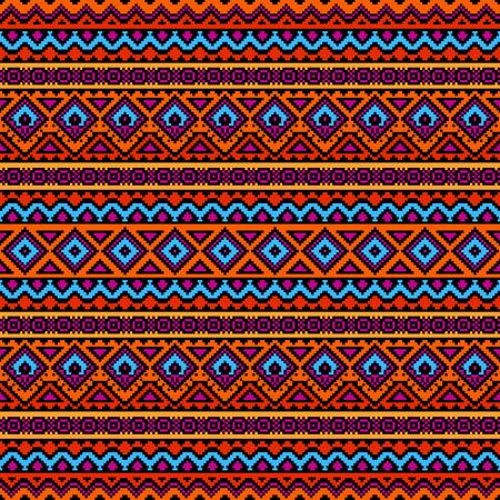 56650980 aztekisches stilisiertes nahtloses muster helle farbige ethnische druckschablone fr gewebe und papier boho schickes design sommermode - Bastelpapier Muster