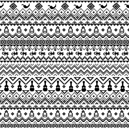Black And White Seamless Pattern In Boho Style Vector Wallpaper With Ethnic Aztec Ornament