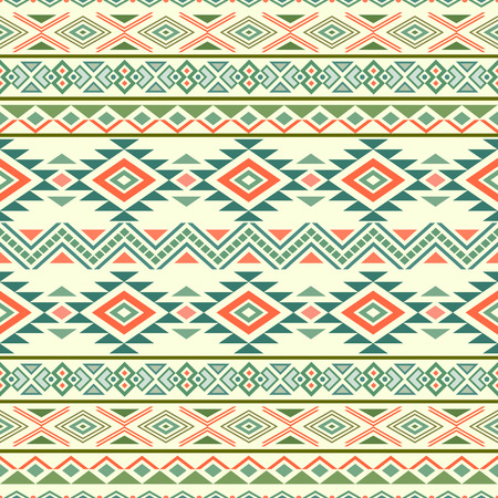 mexican folklore: Abstract seamless pattern with ethnic aztec motives. Boho design. Tribal pattern. Folk stylized print template for paper and fabric. Summer fashion.