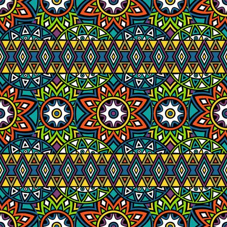60504316 nahtloses muster mit azteken und mandalamotiven abstrakter hintergrund in der ethnischen art boho design - Boho Muster