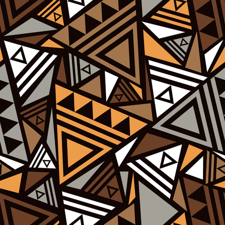 Seamless pattern with abstract geometrical ornament.