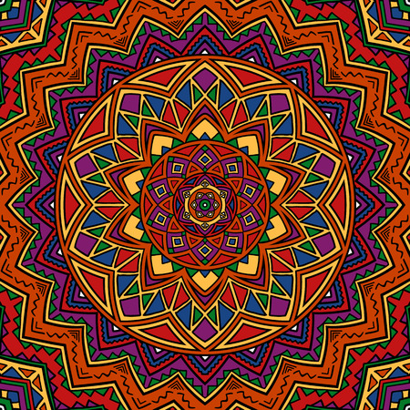 gypsy: Mandala pattern. Abstract ethnic background in gypsy style. Boho design. Illustration