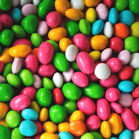 Colorful candy dragee pattern. Stock Photo